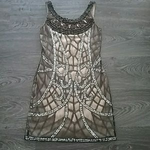 Cache Mini Sequin Cocktail Dress Size 6